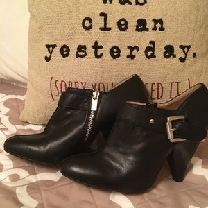 Michael Kors black leather booties, 10